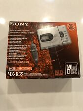 Very Rare Sony Mz-R35 MiniiDisc Player/Recorder All Accessories New, European