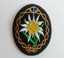 EMBROIDERY WWII GERMAN ARMY EDELWEISS PATCH