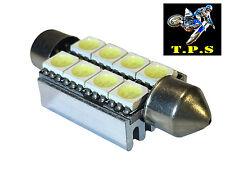 WHITE 38-39MM ERROR FREE FESTOON 8 LED INTERIOR MAP NUMBER PLATE BOOT LIGHT BULB