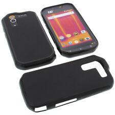 Tasche für Cat S60 Smartphone Handytasche Schutz Hülle TPU Gummi Case Schwarz