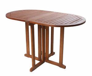 Balkontisch BALTIMORE oval klappbar - Eukalyptus FSC - Holz Garten Klapp Tisch