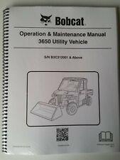 Bobcat 3650 Utility Vehicle Operation & Maintenance Manual - 2015 Edition