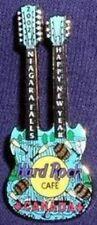 Hard Rock Cafe NIAGARA FALLS CANADA 2002 HAPPY NEW YEAR PIN DN GUITAR HRC #10949