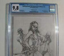 Walking Dead # 19 CGC 9.8 E variant 15th Anniversary SKETCH White Pages Image