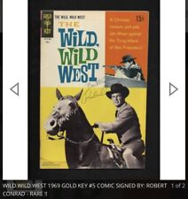 Wild Wild West 1969 Gold Key #5 Comic Signed By- Robert Conrad