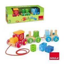 GOULA Wooden Pull AlongTrain 1 2 3. Brand New, 18 months +, Boys & Girls