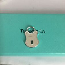 Tiffany & Co. Silver Emblem Lock Pendant Charm For Necklace or Bracelet