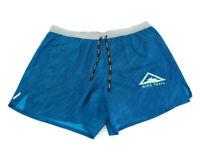 "Nike Shorts Blue Gray Flex Stride 5"" Trail Running Dri-Fit Mens Large CQ7949 432"