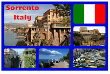 SORRENTO, ITALY - SOUVENIR NOVELTY FRIDGE MAGNET - FLAGS / SIGHTS -  NEW - GIFT