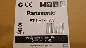 2x Original Panasonic ET-LAD55W Projector Lamp PT-D5500, PT-D5600,