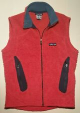PATAGONIA Men's Small Polartec Red Full Zip Up Vest Style 25153F7