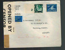 1940 Batavia Netherlands Indies Censored Cover to Worthing England