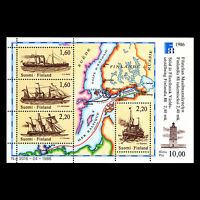 Finland 1986 - Stamp exhibition FINLANDIA 88 Ships Boats Maps - Sc 740 MNH