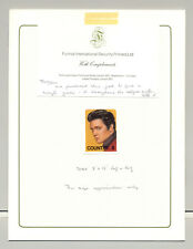 Elvis 1v Imperf Chromalin Proof in Folder, No Country or Denomination