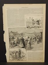 Harper's Weekly 1 Pg Market Day in a Southern City 1883  B8#91