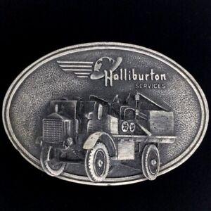 Vtg 1982 Halliburton 1916 Fwd Pumper Oilfield Pump Truck Oil Field Belt Buckle
