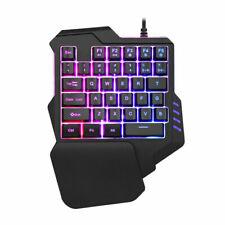 Gaming Mechanical One-handed Keyboard RGB Backlit PC Gaming Left Hand Keypad
