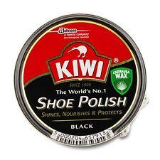 Kiwi LEATHER Scarpa Polacco Scarpe Stivali TIN COLORE NERO CERA DETERGENTE PER PENNELLI