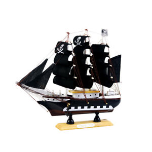 9.5'' Nautical Wooden Handcrafted Ship Model Pirate Sailing Boat Replica #3