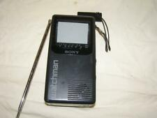 RARE Vtg SONY FD-230 WATCHMAN Mini Portable Pocket TV Retro 80s Television BW