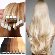 UK ON SALE 7A Tape In Remy Thick Glue 100% Human Hair Extensions Weft No Tangle