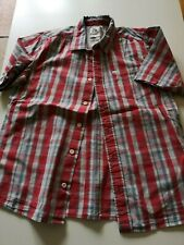 QUIKSILVER |  Boys Short Sleeved Shirt | Age 12 years | RED CHECK