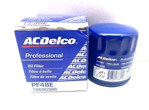 New and Genuine GM ACDelco Engine Oil Filter PF48E PF48F 12690386 19383838
