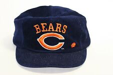 Vintage Chicago Bears Embroidered Bear Cord Corduroy Blue Orange Snap Back Hat