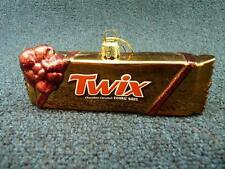 KSA ADLER Twix Bar Chocolate Glass Christmas Ornament  Used (o3173)