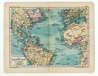 Antique Map Of The Atlantic Ocean George Philip  London Geographical 1903