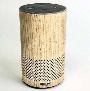 Amazon Echo Decorative Shell Oak Finish 2nd Generation Smart Speaker With Alexa