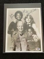 Different Strokes RARE PSA/DNA - Cast Signed Autographed B/W Photo Dana Plato