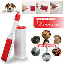 Pet Cat Hair Lint Fur Remover Cleaner Magic Cloth Fluff Fabric Brush Reusable