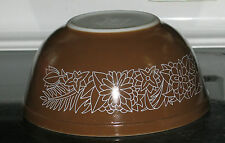 LQQK - 1960's  Pyrex  WOODLAND BROWN  2.5 Qt Mixing Bowl #403 GOOD CONDITION