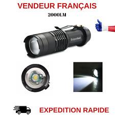 MINI LAMPE DE POCHE LAMPE TORCHE LED Q5 AVEC ZOOM 2000 LUMENS
