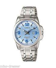 Casio LTP1314D-2A Ladies Stainless Steel Dial Dress Watch 50M NEW Blue Dial
