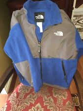 The North Face Grey Blue Denali Fleece Jacket Youth Junior Size L