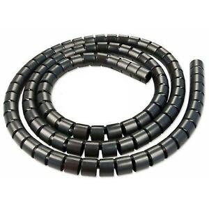2M Black Cable Tidy Wire Organizing Kit, Spiral Wrap FOR PC TV HOME NEW