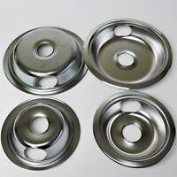 GB6 For GE Range Burner Bibs Bowls Drip Pans Set 2 WB31X5010 2 WB31X5011