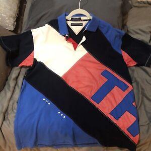Vintage Tommy Hilfiger Polo Shirt 90s RARE! Size Men's XL