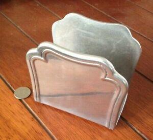 Vintage Wilton Aluminum Letter or Napkin Holder - Columbia Pa