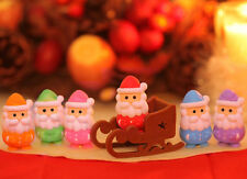 Japanese IWAKO 6 Santas & Sleigh Puzzle Rubber Eraser Set