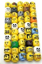 LEGO LOT OF 50 MINIFIGURE HEAD PIECES VARIETY THEMES PEOPLE CITY CASTLE BODY PCS