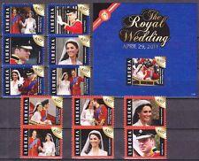 Liberia 2011 Mi.Nr. 6033-45, Bl. 616 ** MNH Hochzeit William & Catherine 32 €