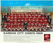 1969 KANSAS CITY CHIEFS  8X10 TEAM PHOTO SUPER BOWL CHAMPIONS  FOOTBALL