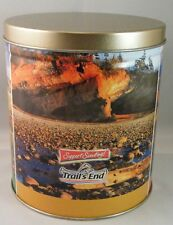"""'Trail's End' Boy Scouts Popcorn Collectible Tin Container Canister & Lid 6"""" EUC"""
