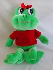 "Valentine Frog Girl Plush 15"" Stuffed Animal Red Shirt Bow Nadel Toys"