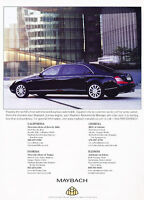 Classic Vintage Advertisement Ad PE100 2006 Maybach 62 extraordinary