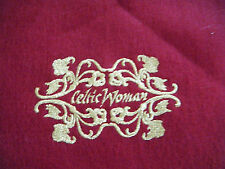 Celtic Woman Wool Scarf 100% pure lambswool Made in Uruguay
