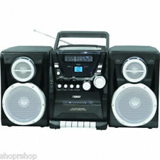 NAXA Portable CD Player with AM-FM Stereo Radio Cassette Player-Recorder & Twin